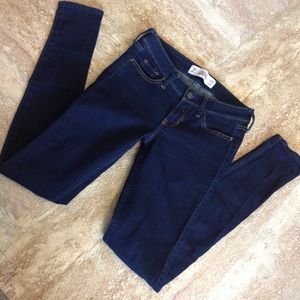 Dark wash Hollister jeans worn and washed once